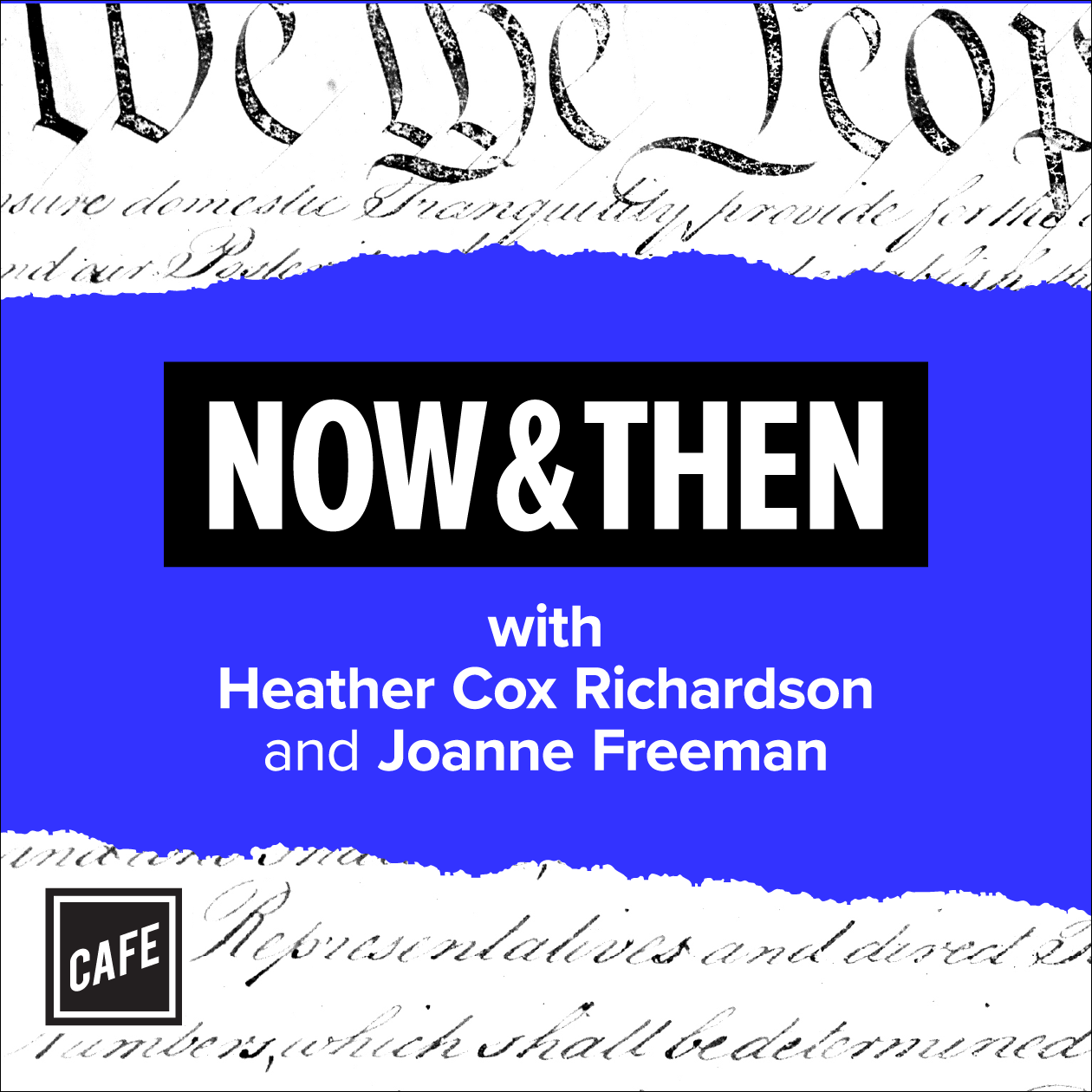 Now & Then podcast art card